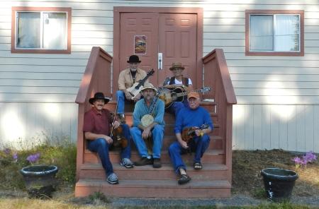 5 of us on grange steps